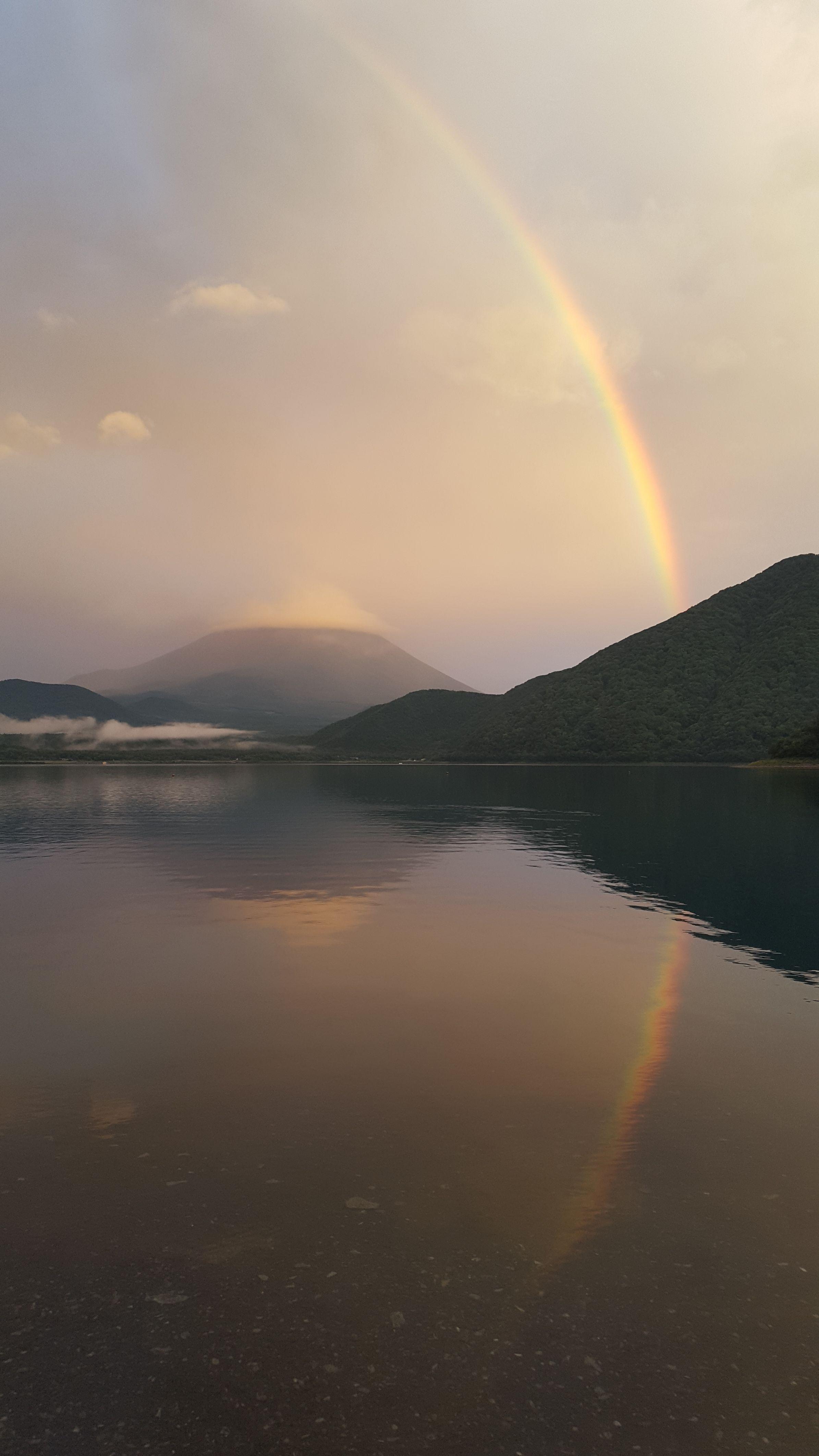 Rainbow over Mt. Fuji