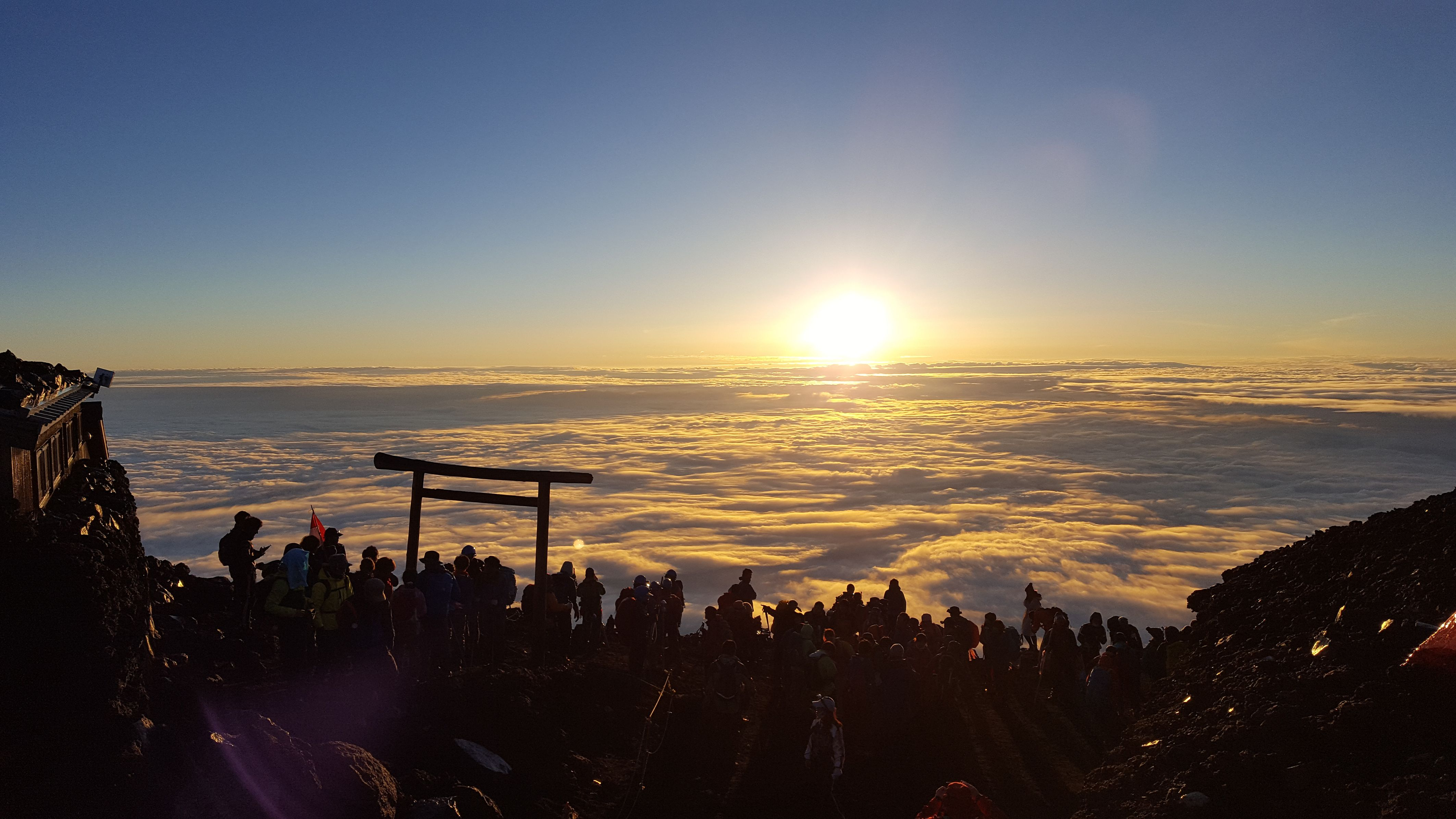 Sunrise at Mt. Fuji